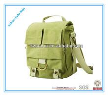 Army green fashion canvas waterproof canvas slr camera shoulder bag