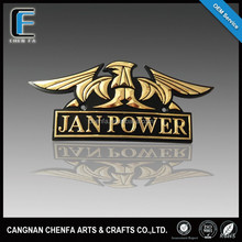 Promotional 3D ABS plastic chrome plating &bronzing eagle logo emblem badge front stickers for cars
