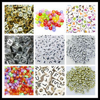 Wholesale Bulk Mixed Plastic Acrylic Alphabet Letter Beads for Jewelry Making
