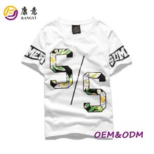 customized high quality cotton printed factory women t shirt