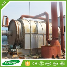 CE high output waste tyre scrap plastic recycling line to oil