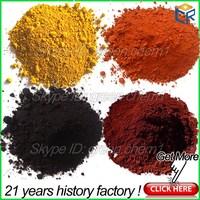 Pigment red/yellow/black/green/blue iron oxide chemical formula for ceramic tiles/beton/making paint/rubber tiles/mix asphalt