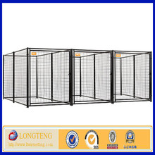 Black steel welded welded wire mesh dog cage for sale