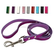 Wholesale alibaba multicolor shimmer leather dog pet leash