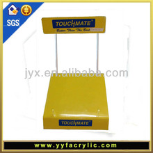 Yellow Acrylic laptop stand with SGS certification