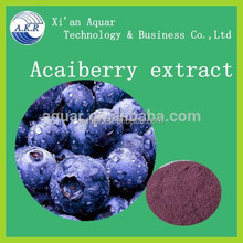 Strong antioxidant anti-aging high quality Anthocyanosides 20:1 Acai berry extract powder