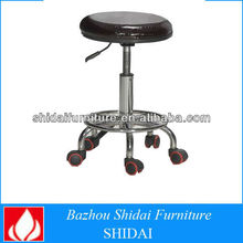 High Quality adjustable swivel PU leather bar stools with wheels