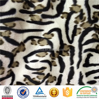 Plain Dyed Velboa With s Wave and Printed Design For Sofa Or Bag