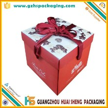 2015 Top Selling Custom Food Grade cardboard box for cake