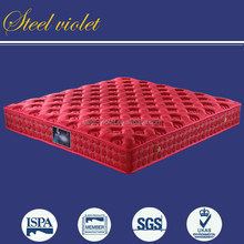 Red color knitted fabric soft air spring mattress