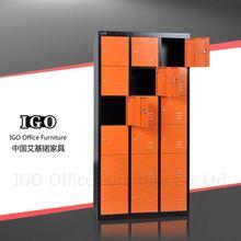 IGO-Furniture 18 Doors steel cabinet steel wardrobe with foot