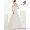 LF0014 New Wedding Bridal A-line Classic White Sequin Evening Gowns