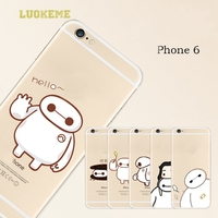 Ultra thin baymax cell phone housing for apple iphone6 case