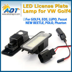 error free LED number license plate light for VW Golf4