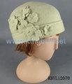 divertido de ganchillo gorro de lana con sombreros de flores