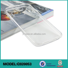 China factory crystal clear TPU back case for Samsung Galaxy S6