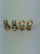 Customized high polished hardened brass gold plated pin ball head pin