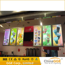 Green energy product menu led light box for restaurant