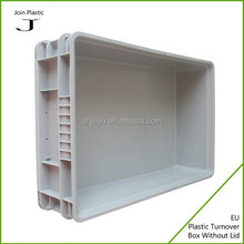Stacking plastic brown storage boxes
