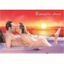 Hot Sell Sex Handmade Nude Woman Kiss A Man Painting