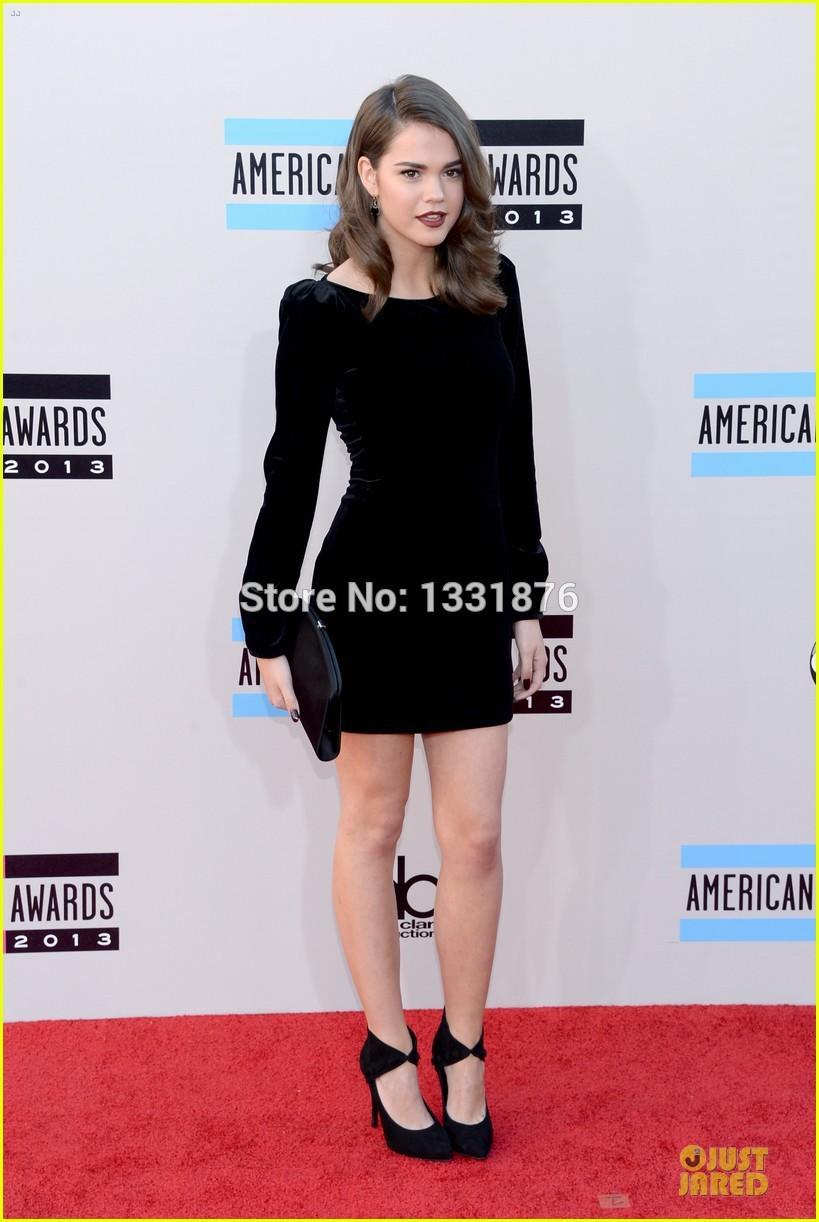 Sexy Maia Mitchell vaina Scoop negro elegante vestido corto del baile manga larga vestidos noche formales