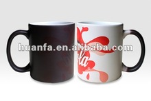 Hot sensitive magic cups,Full color change ceramic mugs with Brande logo