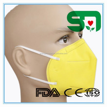 Germany PP Material Physical Inactivate Viral Disposable Non-woven 3 ply Air Pollution Mask N95