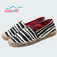 canvas loafers slip on shoe small order min order 180 pairs