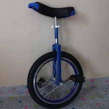 "Motorcycle 16"" Double alloy rim Unicycle Height Adjustable Blue color CE/ASTM F963-11 Approved"