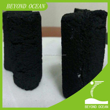 coconut shell charcoal briquette in hexagonal