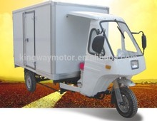 Chongqing Gold Supplier Water-cooled Engine Cargo Tricycle With Cabin/Three Wheel Motorcycle For Sale