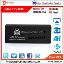 MINI PC MK808B Plus Amlogic M805 Quad Core Android 4.4 Mini PC Smart Google TV Stick Dongle 1GB 8GB WIFI H.265 DLNA Miracast