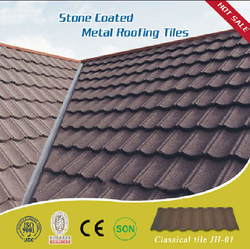 Synthetic resin stone coated metal roof tiles with superb quality