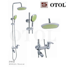 New Polished Chrome Exposed Rain Shower Bathtub Sink Mixer Tap Hand Shower