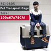 cat pet carrier 100x67x75 CM with wheel