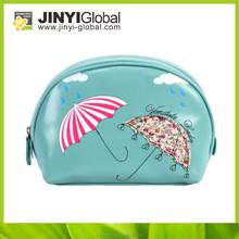 sale blue cosmetic bag pu bag popular umbrella printing