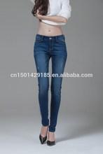 fuente de la fábrica de otoño lápiz delgado pies oscuro stretch jeans stretch