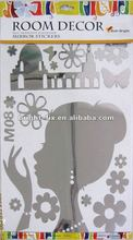 Person and Animal Self-Adhesive Wall Mirror Stickers