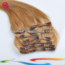 China Golden Supplier 100% Remy Human Hair Thick Cuticles Correct Brazilian full head clips art natural hair