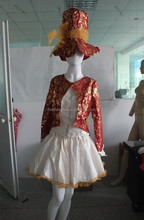 Instyles Quanzhou China manufacturer Womens Sexy Mad Hatter Tea Party Alice In Wonderland Fancy Dress Costume Corset red brocade