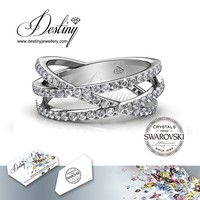 Destiny Jewellery latest wrestling rings for sale fashion ring Crystals from Swarovski - DR0310