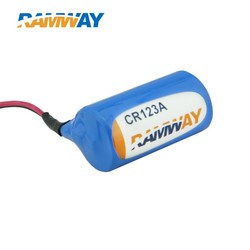 2/3A CR123A 3 volt Li-Mn Battery With Wire Lead 1600mAh For Gas Meter