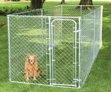 Black 8 Panels Heavy Duty Pet kennels Dog Fence