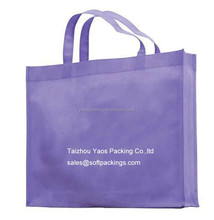 wholesale purple bag for shopping, blank reusable grocery bag, promotional non woven tote bag
