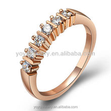 charm fashion rings low cost wholesale white diamond wedding engagement 18k rose gold filled ring
