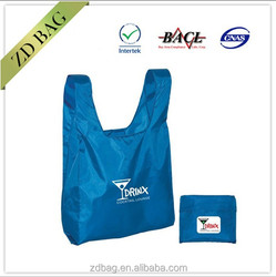 Recyle Foldable Shopping Tote Polyester Bag With Small Pouch