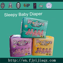 Disposable Baby Diapers Manufacture in China, Baby Lovely Sleepy Baby Diapers