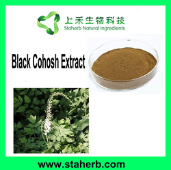 Manufacturer Supplier 2.5% Triterpenoid Saponins Black Cohosh Extract Black Cohosh Root Extract