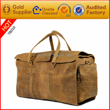 2016 new arrive crazy horse style sports duffel bag leather golf travel bag