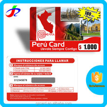 2015 new products prepaid paper scratch cards printing services